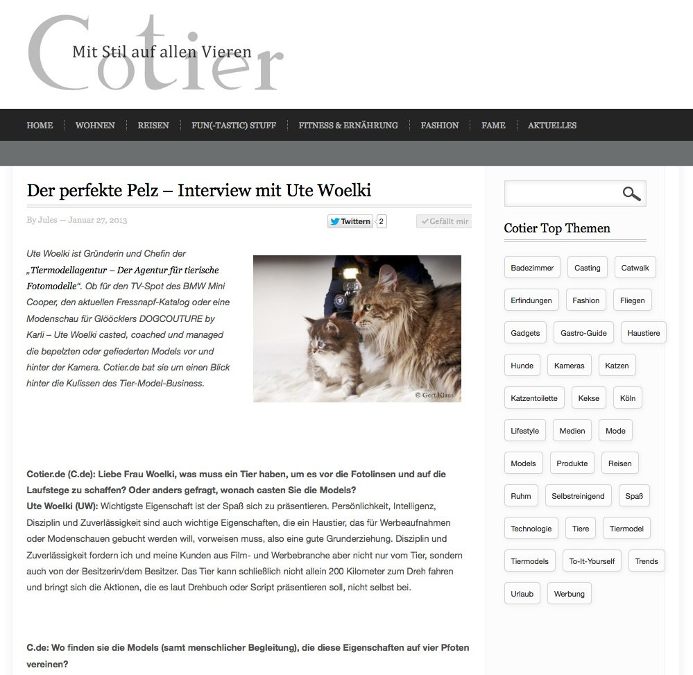 Cotier Interview